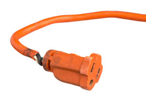 Damaged Extension Cord